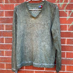 Parasuco khaki vintage long sleeve shirt